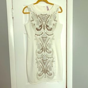 White dress with great details!